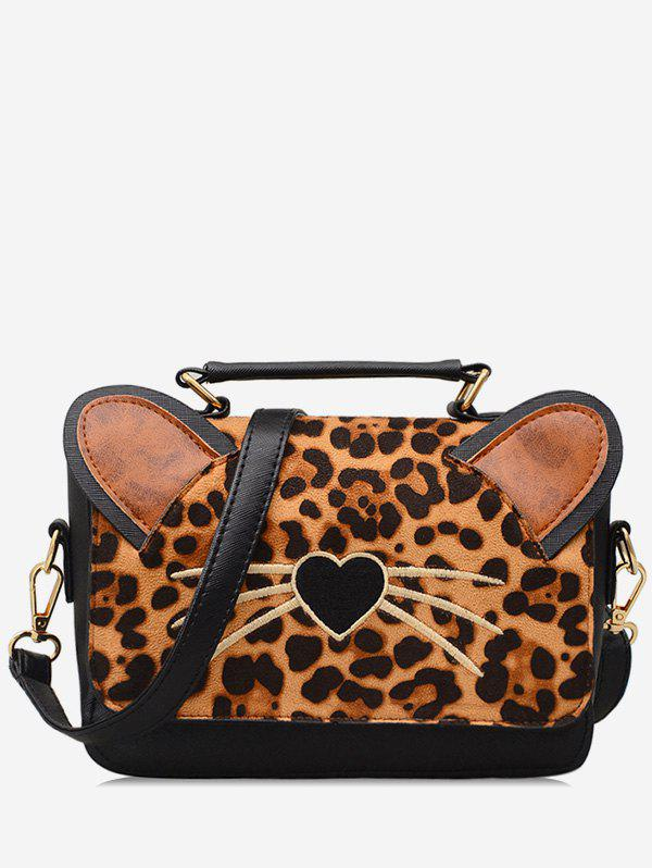 New Leopard Cat Pattern Crossbody Bag