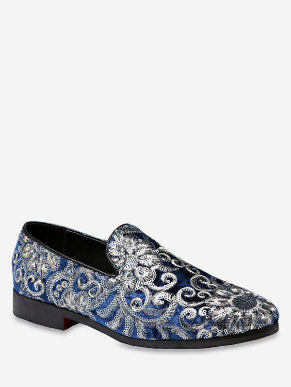Chic Vintage Embroidery Slip On Shoes