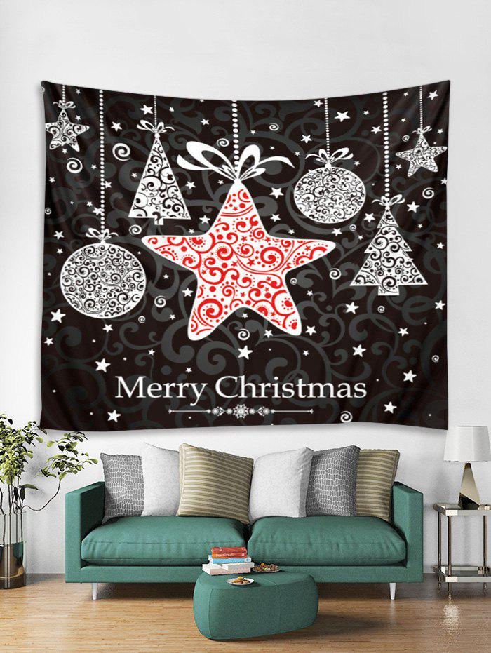 Latest Christmas Hanging Star Print Tapestry Wall Hanging Art Decoration