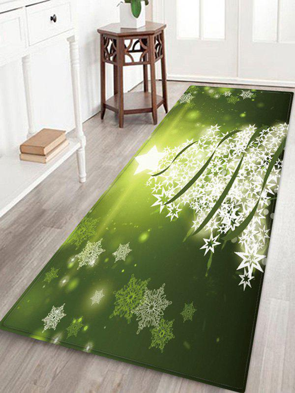 Outfit Christmas Snowflake Tree Pattern Water Absorption Area Rug