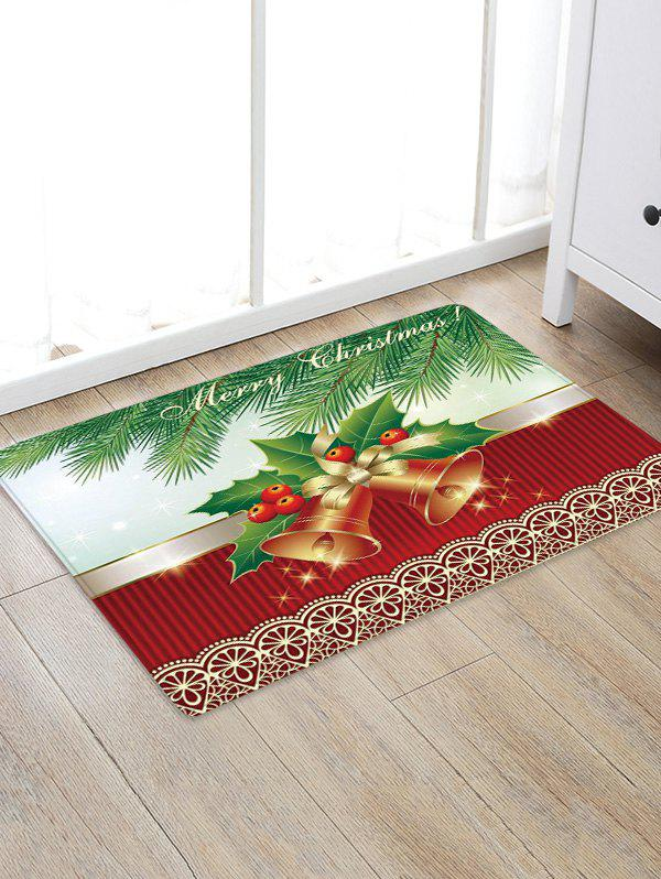Best Christmas Tree Bells Pattern Anti-skid Water Absorption Area Rug