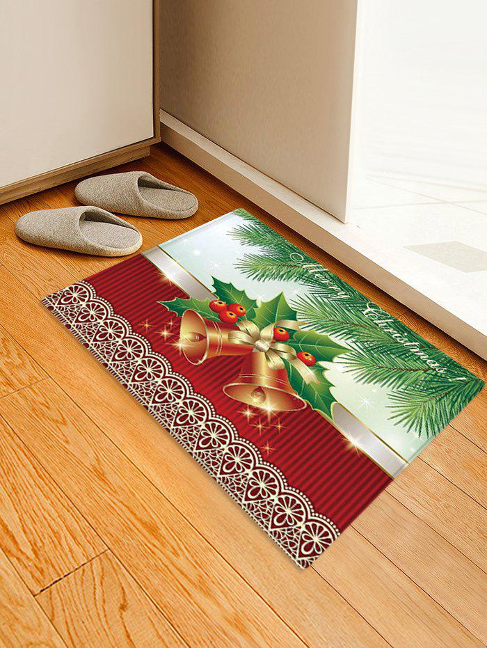 Store Christmas Tree Bells Pattern Anti-skid Water Absorption Area Rug
