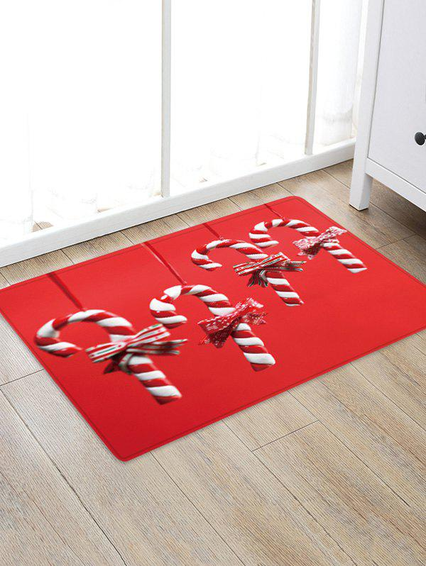 Shop Christmas Candy Cane Pattern Water Absorption Floor Rug