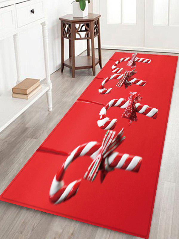 Hot Christmas Candy Cane Pattern Water Absorption Floor Rug