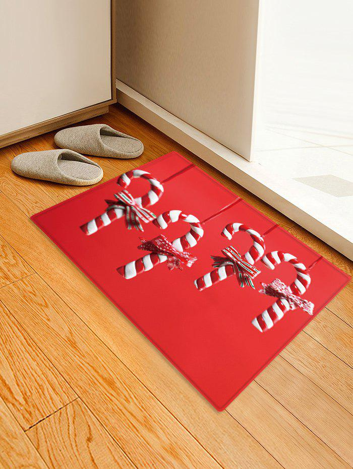 Cheap Christmas Candy Cane Pattern Water Absorption Floor Rug