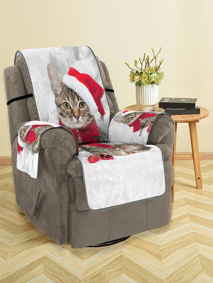 Affordable Christmas Cat Pattern Couch Cover