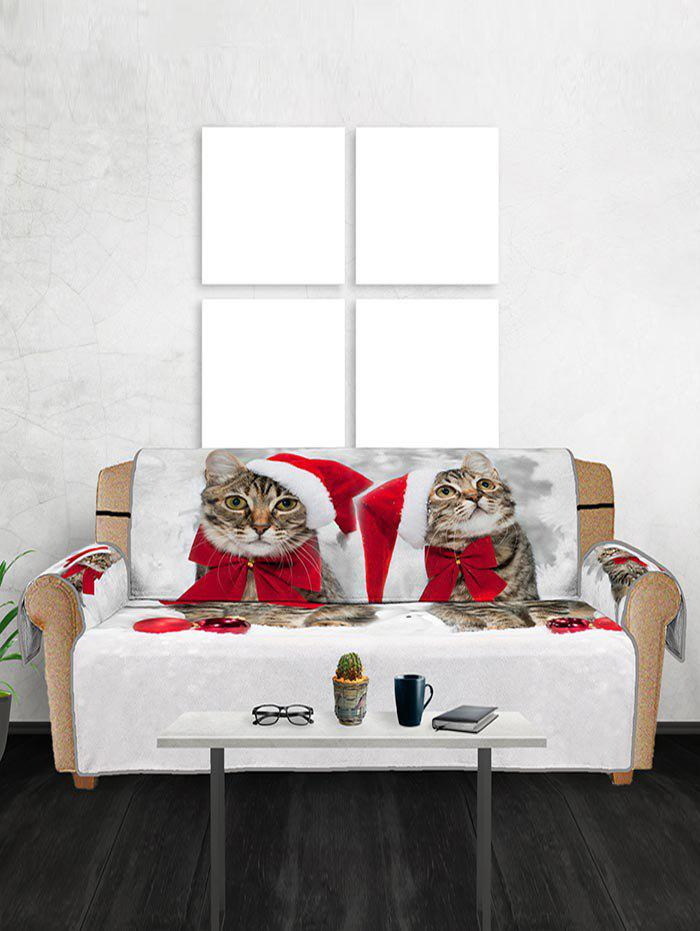 New Christmas Cat Pattern Couch Cover