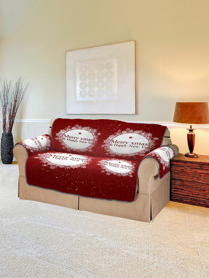 Unique Christmas Greeting Pattern Couch Cover