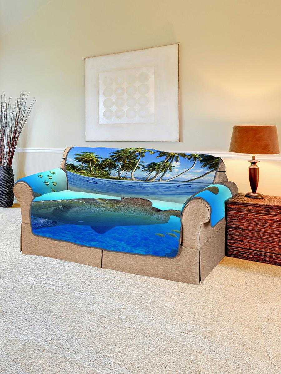 Discount Ocean Turtle Island Pattern Couch Cover