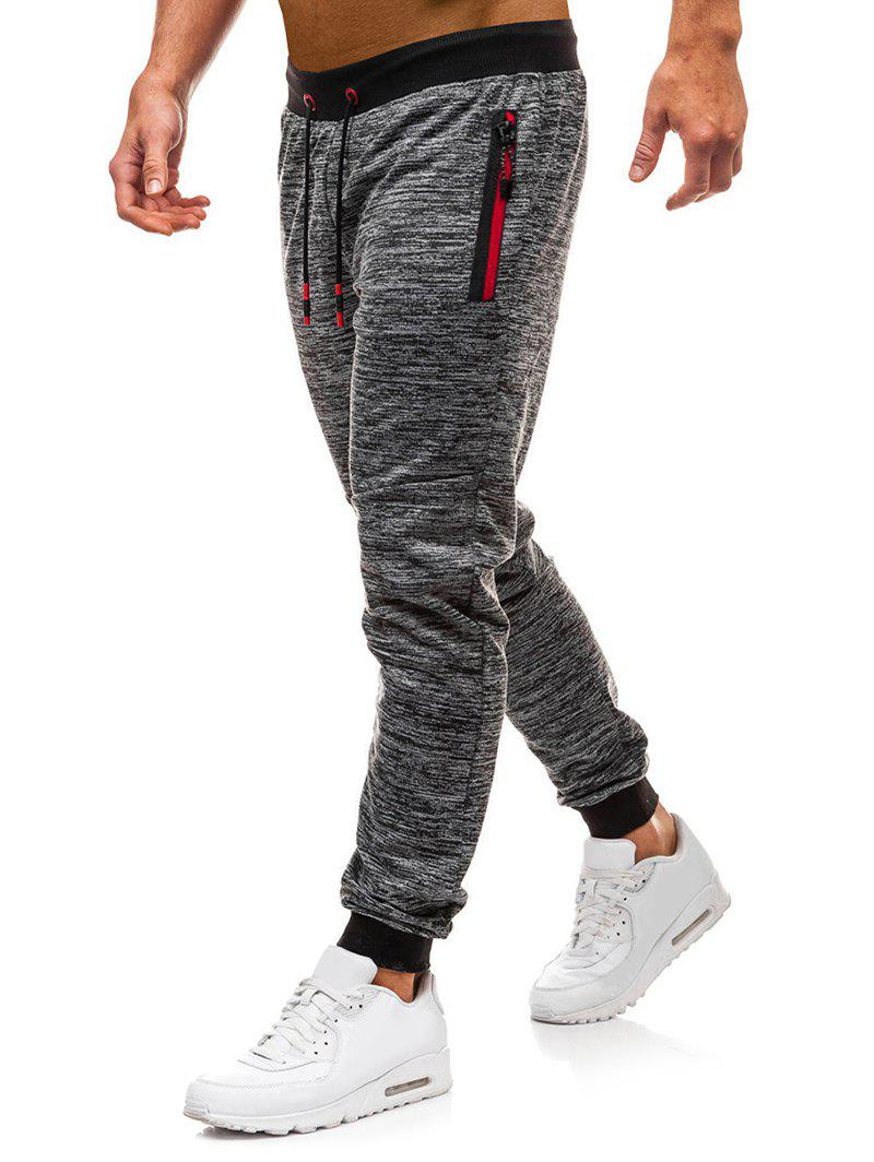 85b675791f Side Zipper Pocket Casual Jogger Pants
