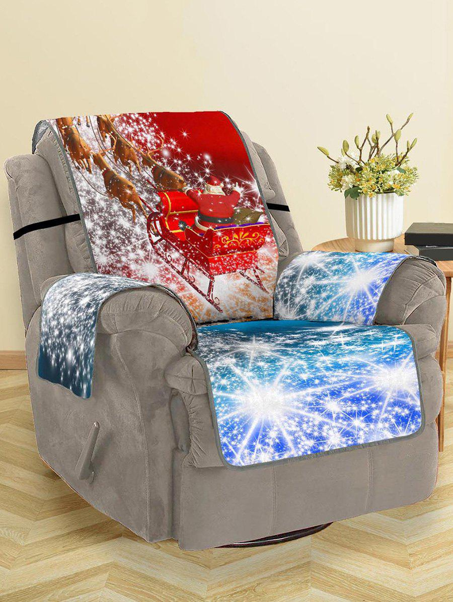 Affordable Christmas Elk Sleigh Pattern Couch Cover