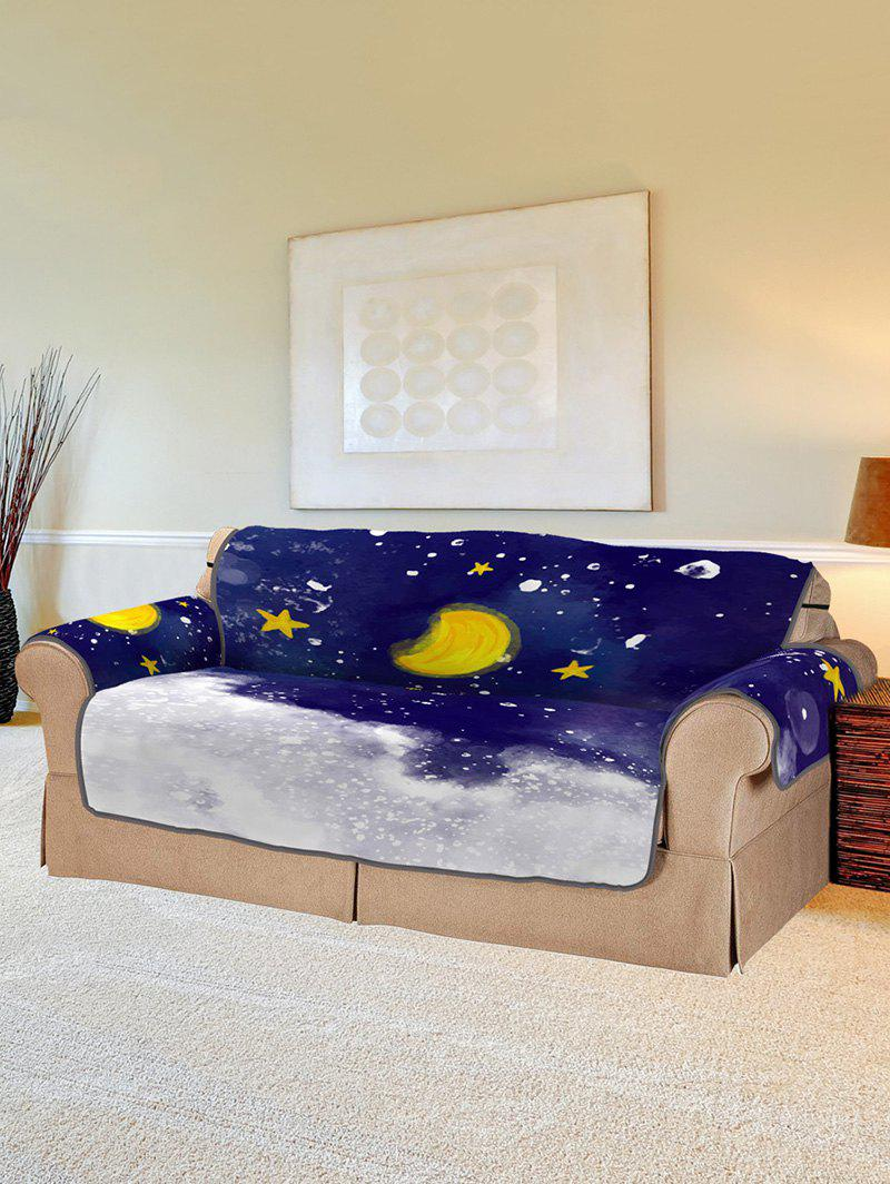 Discount Christmas Moon Night Pattern Couch Cover