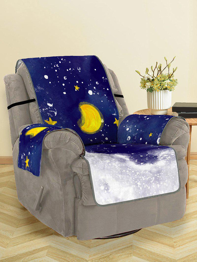 Unique Christmas Moon Night Pattern Couch Cover