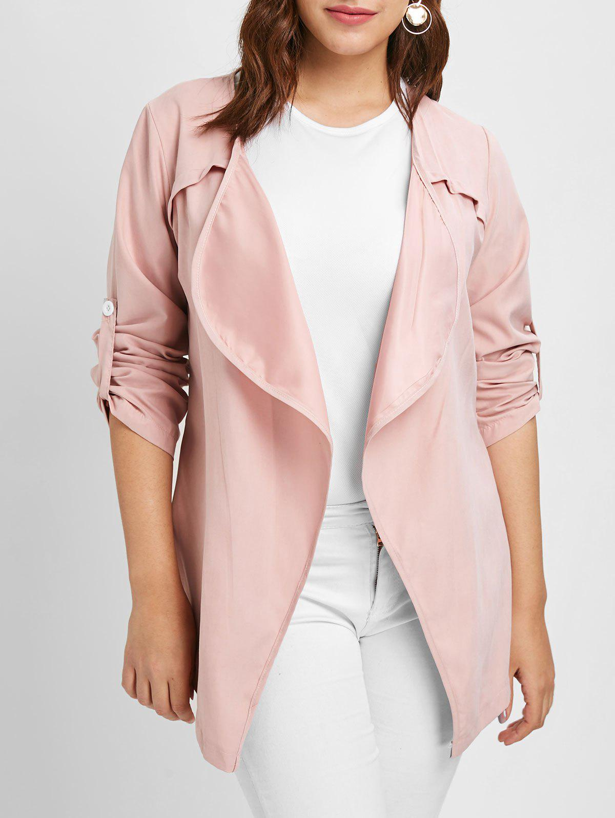 Outfits Plus Size Long Sleeves Jacket with Open Front