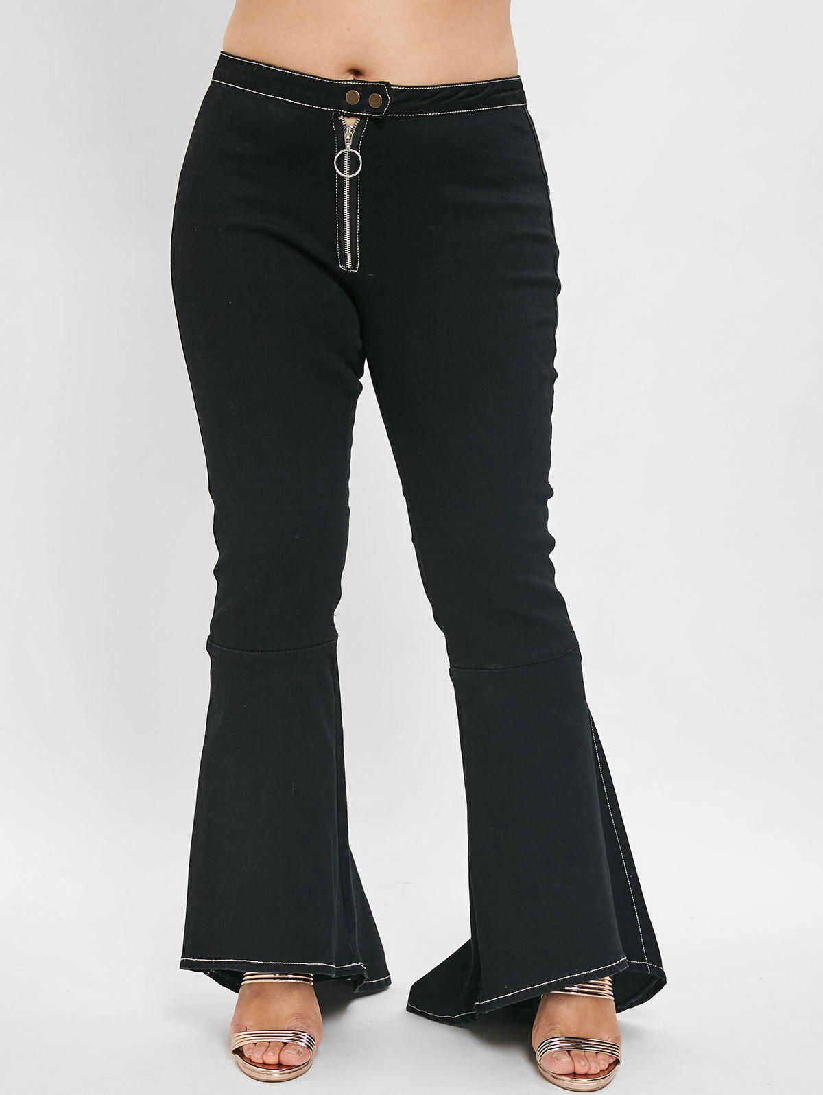 Store Plus Size Flare Jeans with High Waisted
