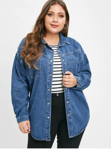 Plus Size Denim Shirt - Free Shipping, Discount And Cheap Sale | Rosegal