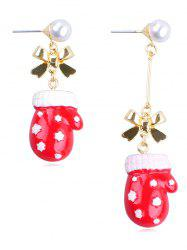 Christmas Glove Design Alloy Drop Earrings -