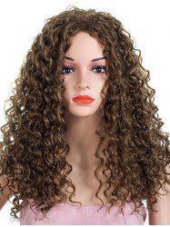 Long Inclined Bang Kinky Curly Synthetic Wig -