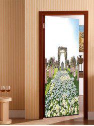 3D Wedding Pattern Door Art Stickers -