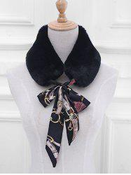 Vintage Faux Fur False Collar Scarf -