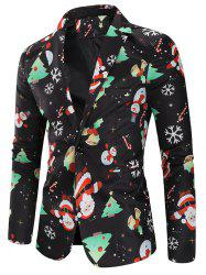 Christmas Snowmen Candy Printed Casual Blazer -