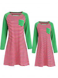 Mother and Daughter Matching Stripe Sleeping Dress -