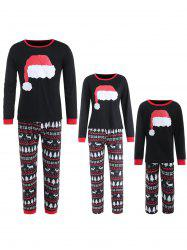 Family Christmas Hat Print Pajamas -