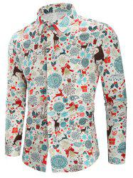 Christmas Print Casual Shirt -
