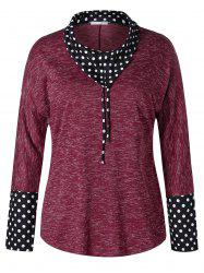Plus Size Dotted Space Dyed T-shirt -