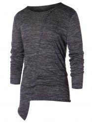 Asymmetric Space Dye Long Sleeve T-shirt -