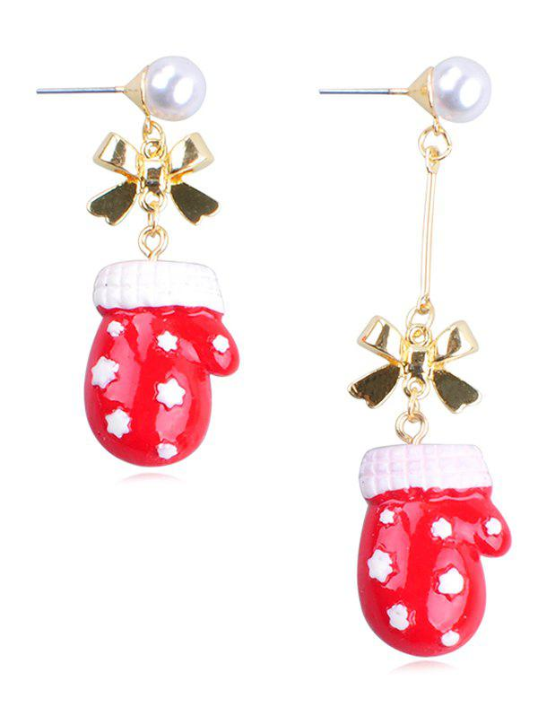 Outfits Christmas Glove Design Alloy Drop Earrings