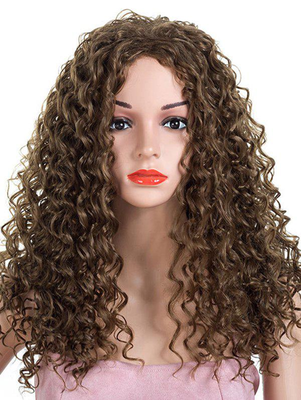 Affordable Long Inclined Bang Kinky Curly Synthetic Wig