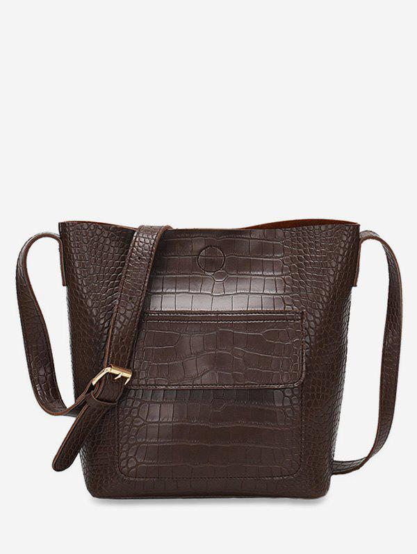 New Artificial Leather Bucket Crossbody Bag