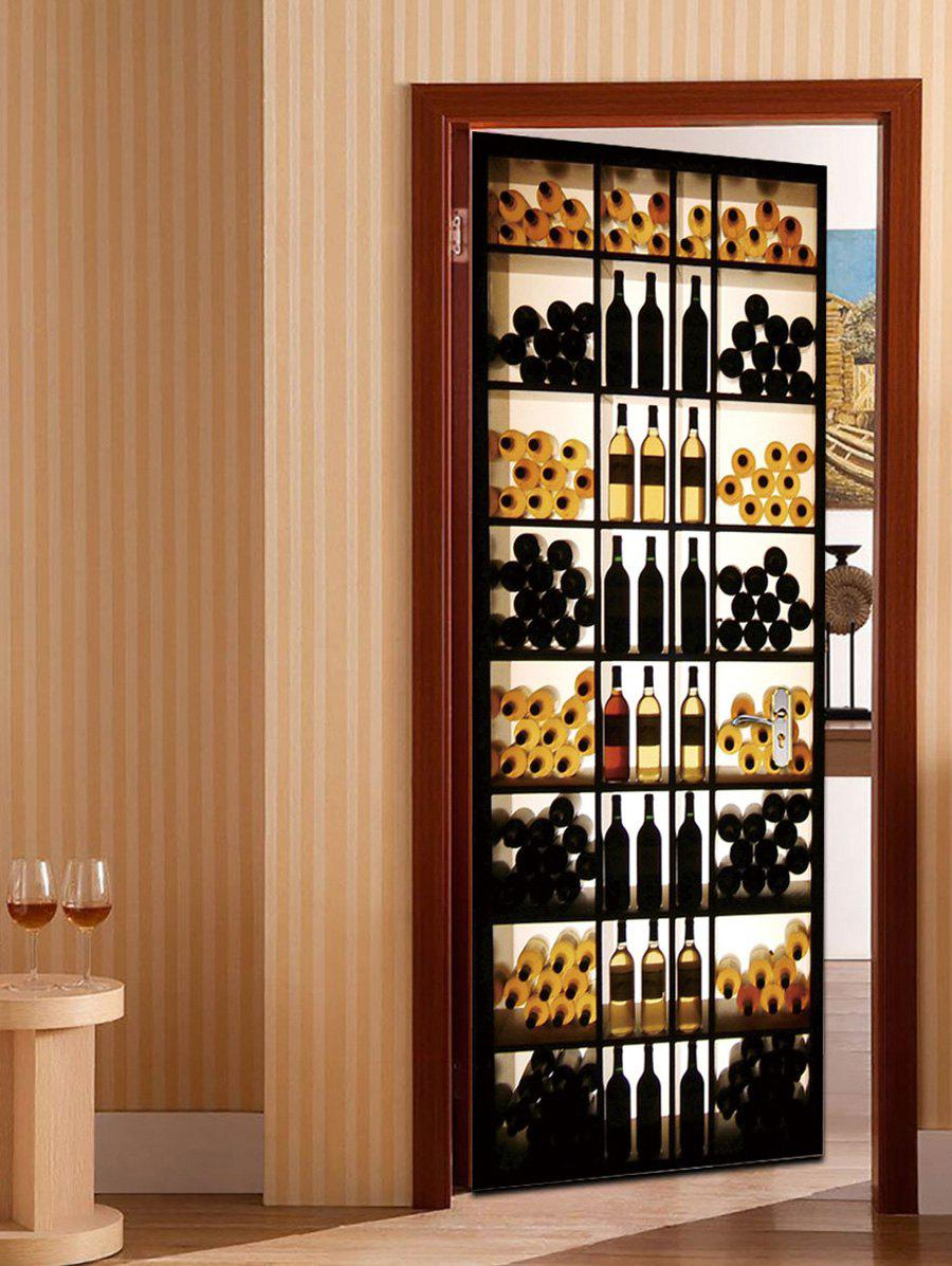 Outfit 3D Wine Cabinet Pattern Door Art Stickers