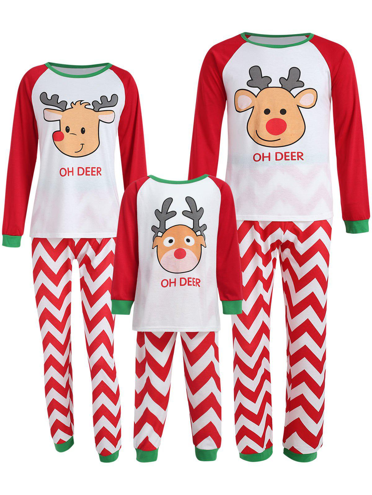 Hot Christmas Reindeer Family Pajama