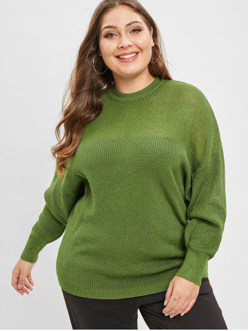 6af81bc18a6 Plus Size Crew Neck Solid Color Sweater
