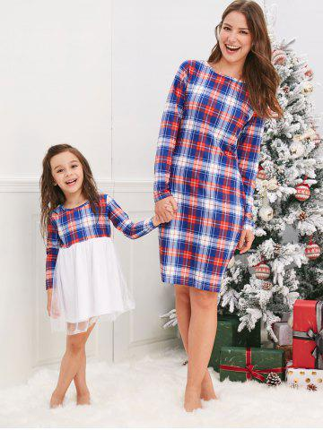 Mother and Daughter Christmas Casual Plaid Dress