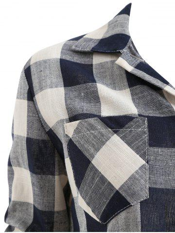 Long Sleeve Checked Breast Pocket Shirt, Multi