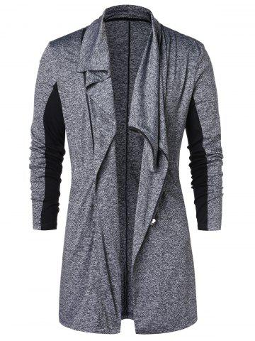 Zip Up Space Dye Longline Coat