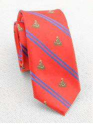 Christmas Tree Striped Print Neck Tie -