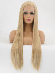 Free Part Straight Long Party Synthetic Lace Front Wig -