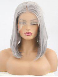 Medium Center Parting Straight Bob Synthetic Lace Front Wig -
