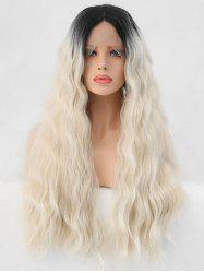 Long Middle Part Colormix Corn Hot Wavy Party Lace Front Synthetic Wig -