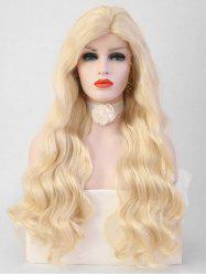 Long Side Bang Body Wavy Party Cosplay Synthetic Lace Front Wig -