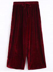 Plus Size Ninth Velvet Pants -