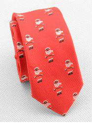 Cute Santa Claus Print Neck Tie -