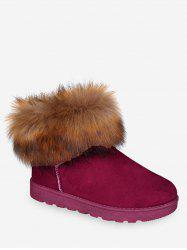 Faux Fur Snow Short Boots -