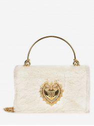 Heart Shape Fluffy Crossbody Bag -