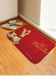 Christmas Elk Pattern Anti-skid Water Absorption Area Rug -