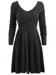 Flexible Collar Sweater Dress -